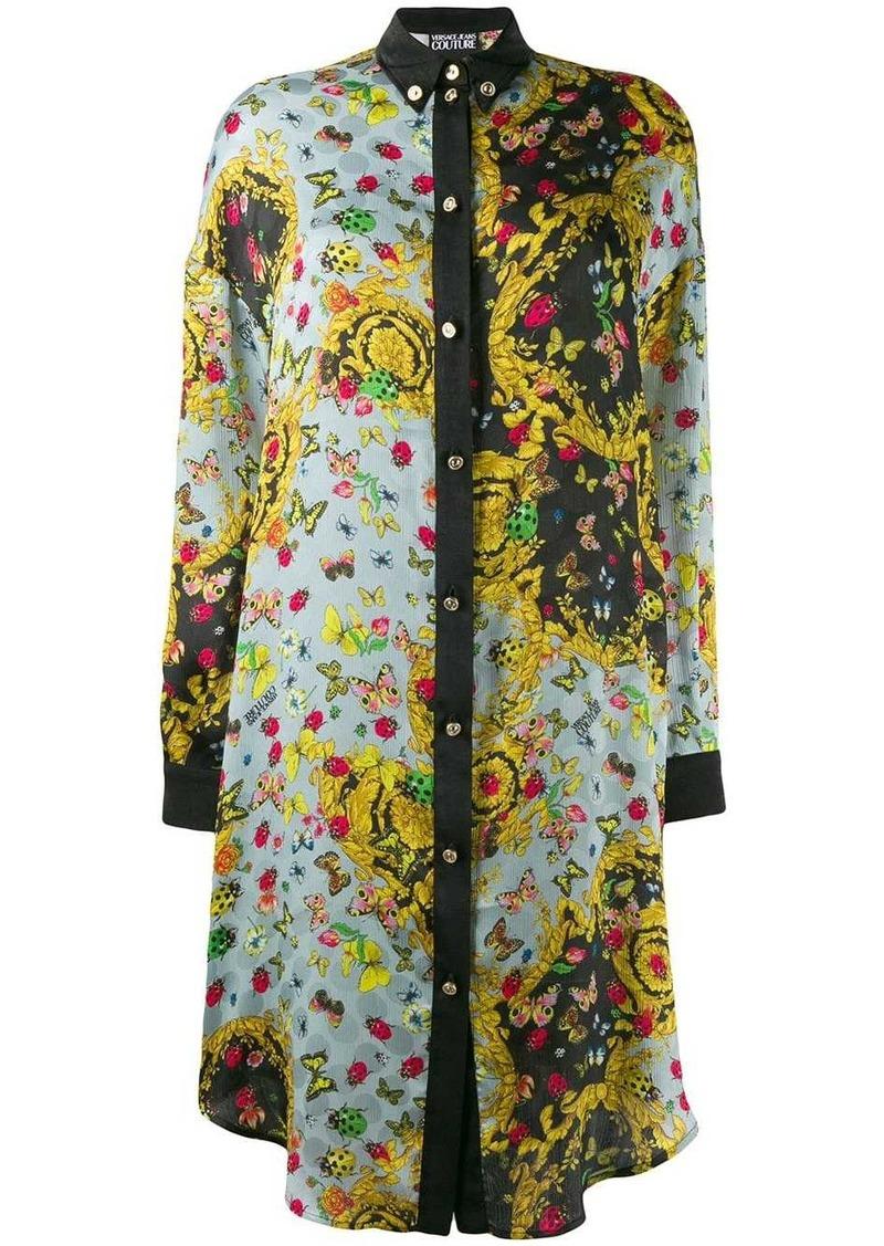 Versace printed shirt dress