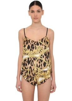 Versace Printed Silk Satin Pajama Camisole