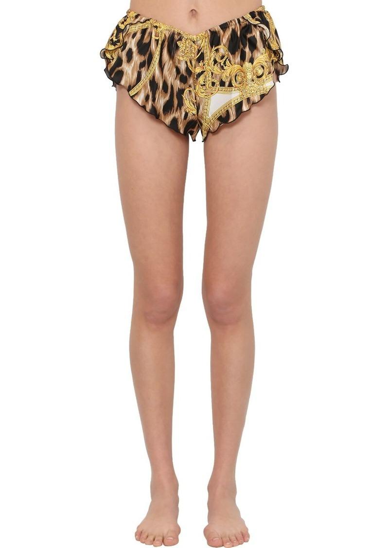Versace Printed Silk Satin Pajama Shorts
