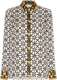 Versace micro-harness print shirt