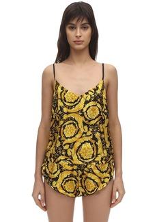 Versace Printed Silk Twill Top