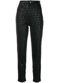 Versace printed slim trousers
