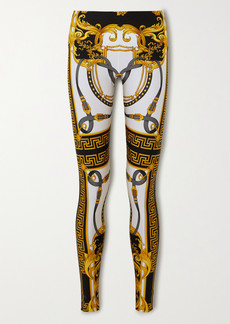 Versace Printed Stretch-jersey Leggings