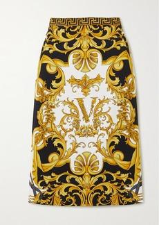 Versace Printed Stretch-jersey Skirt