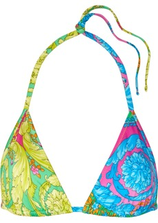 Versace Printed Triangle Bikini Top