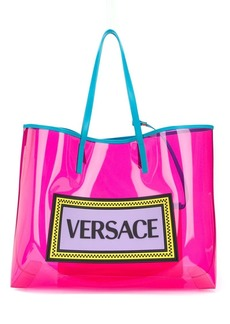 Versace PVC logo shopper tote