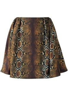 Versace python-print flared mini skirt