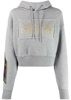 Versace Quantity Quality cropped hoodie