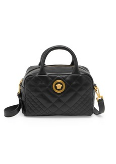 Versace Quilted Leather Box Tote Bag