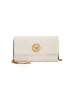 Versace Quilted Leather Mini Crossbody Bag