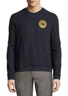 Versace Quilted Logo-Patch Sweatshirt