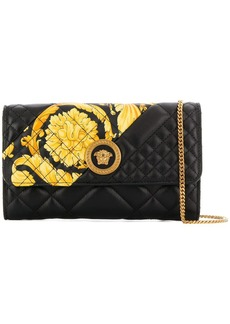 Versace quilted print clutch bag