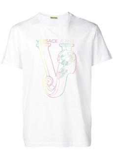 Versace rainbow logo T-shirt