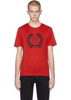 Versace Red Medusa Laurel T-Shirt