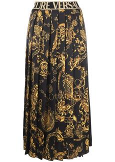 Versace Regalia Baroque pleated skirt