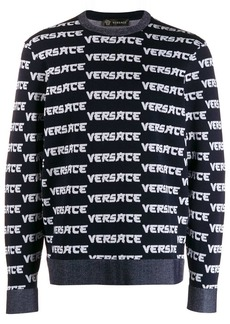 Versace repeat logo knit jumper