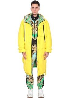 Versace Reversible Hooded Down Coat