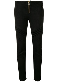 Versace ribbed detail leggings