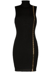Versace ribbed mini dress