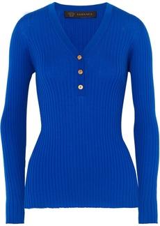 Versace Ribbed Wool Top
