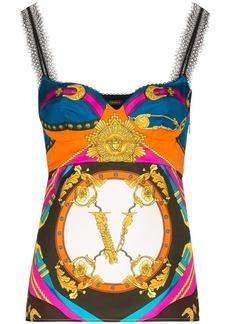 Versace Rodeo baroque-print silk camisole