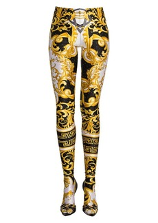 Versace Rodeo Queen Hotfix Studded Leggings
