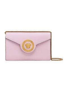 Versace Rosa Nero Chain & Leather Handbag