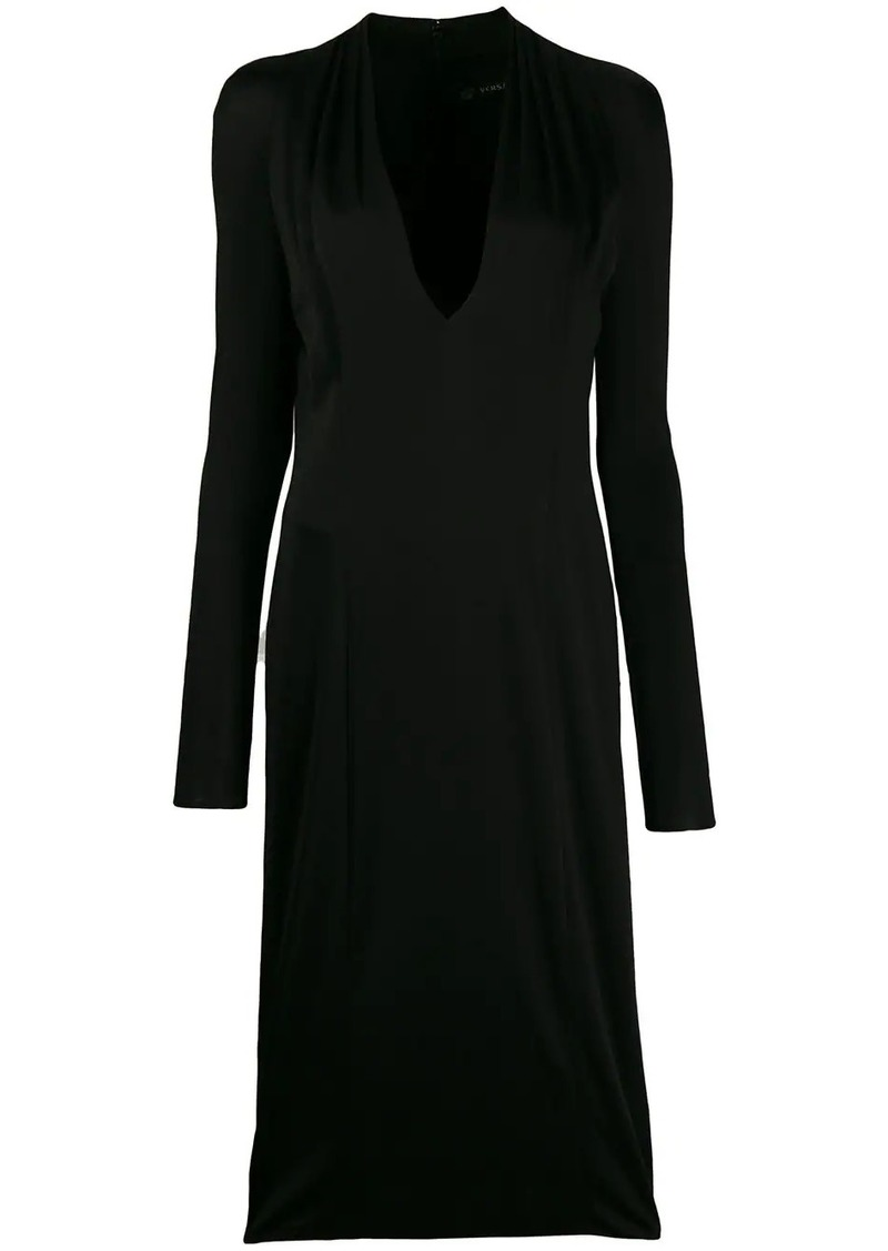 Versace ruched detail dress