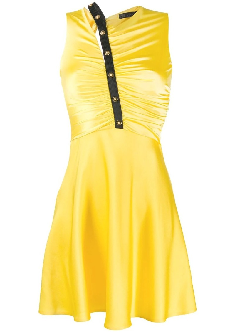 Versace ruched front dress