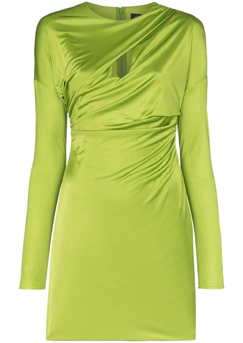 Versace ruched slash-front mini dress