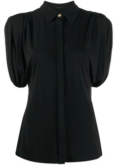 Versace ruched sleeve blouse