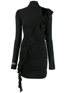 Versace ruffle trim dress