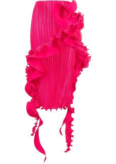 Versace ruffle trim pleated skirt