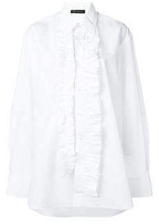 Versace ruffled button-up shirt
