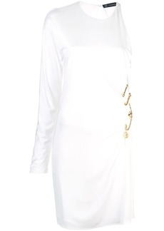 Versace safety pin asymmetric dress