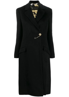 Versace safety pin Barroco lining coat