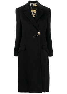 Versace safety pin Barroco lining coat
