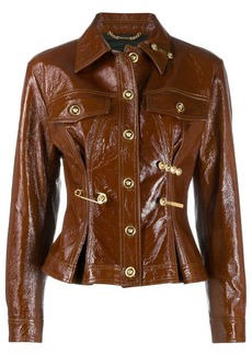 Versace safety pin buttoned jacket