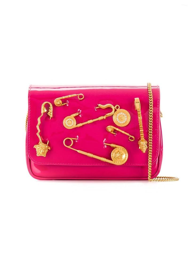 Versace safety pin crossbody bag