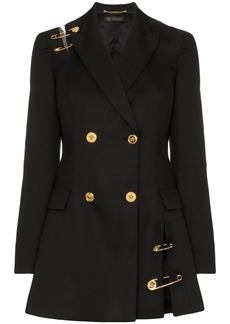 Versace safety-pin double-breasted blazer dress