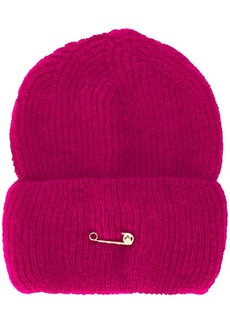 Versace safety pin knitted hat
