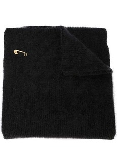 Versace safety pin knitted scarf