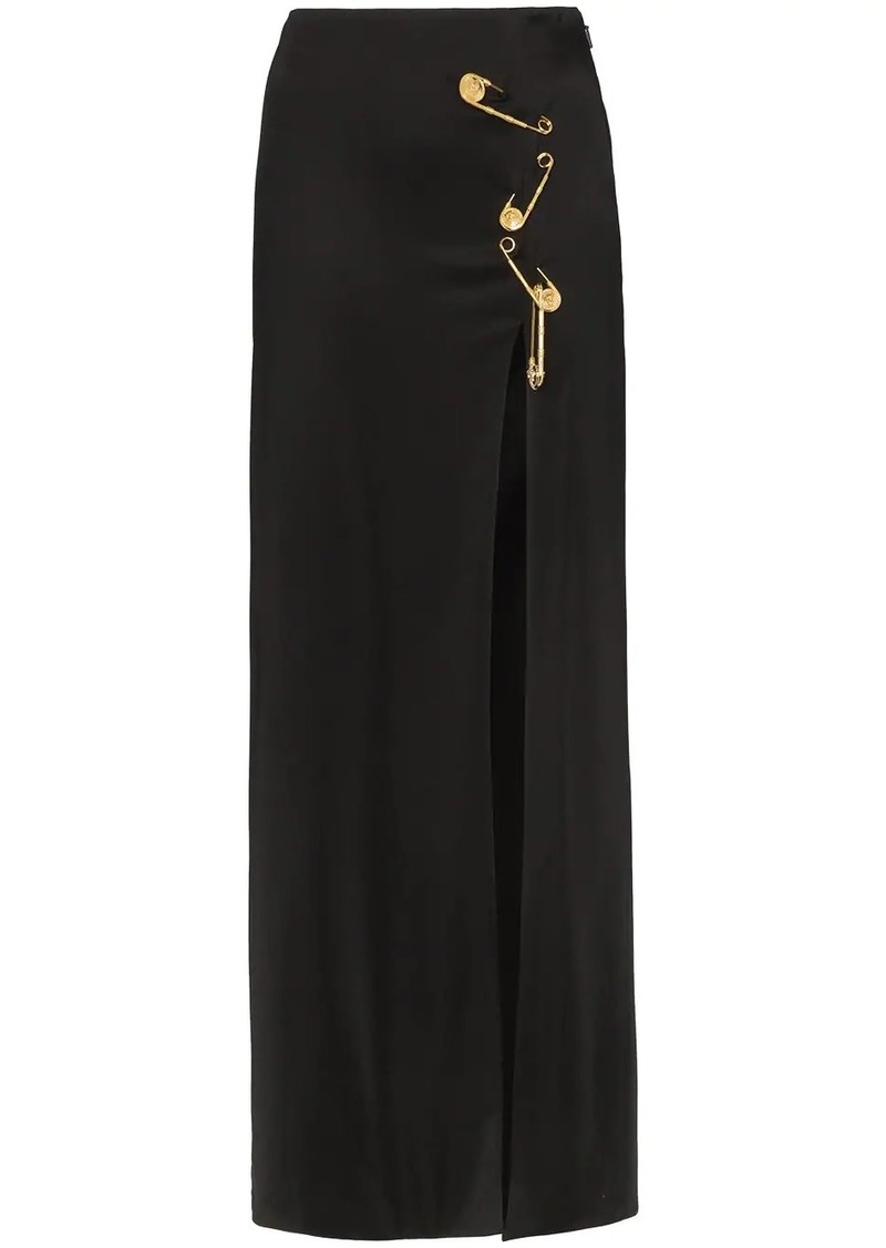 Versace safety pin maxi skirt