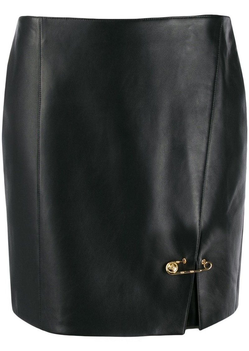 Versace safety pin mini skirt