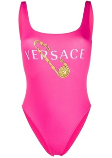 Versace Safety Pin print swimsuit
