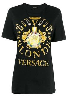 Versace safety pin print T-shirt