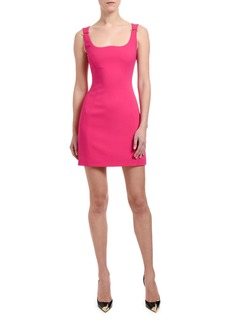 Versace Safety-Pinned Shoulder Mini Dress