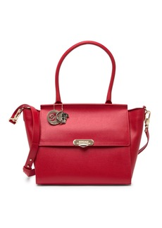 Versace Saffiano Leather Satchel