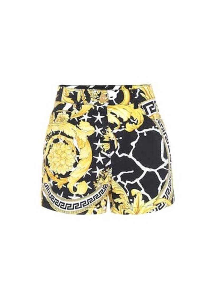 Versace Savage Barocco denim shorts