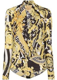 Versace Savage Barocco print bodysuit